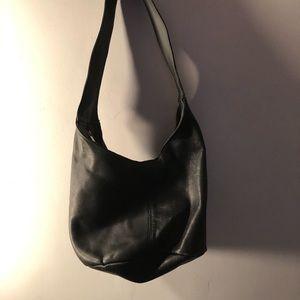 Wilsons leather black hobo purse..